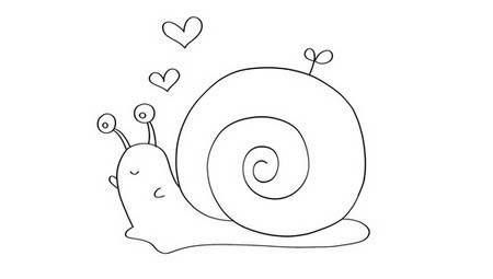 蜗牛简笔画如何画简单又可爱 步骤图解