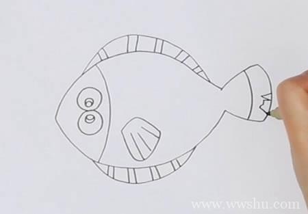 多宝鱼如何画简笔画彩色