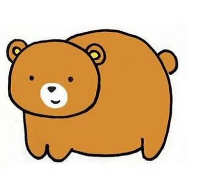 卡通小熊简笔画彩色画法 卡通小熊如何画简单又可爱