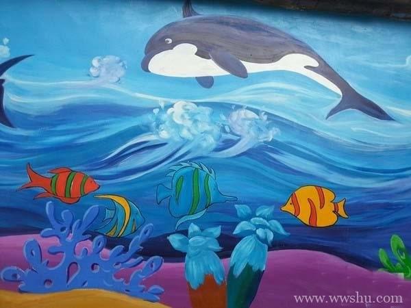 海底世界儿童画教师范画