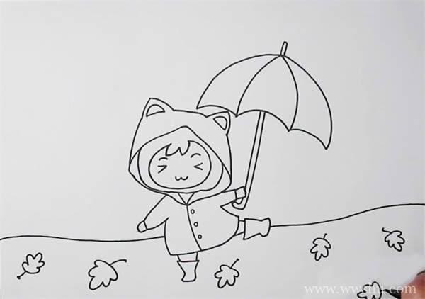 金秋/秋天儿童画画法简单又漂亮