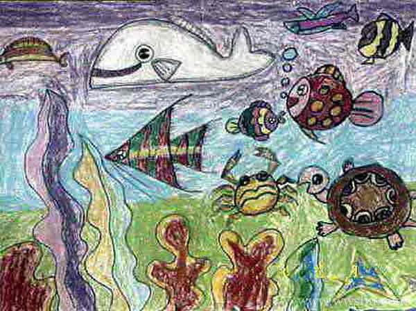 幼儿园奇妙的海底世界儿童画