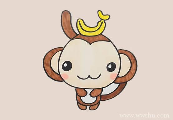 猴子如何画简笔画简单又可爱