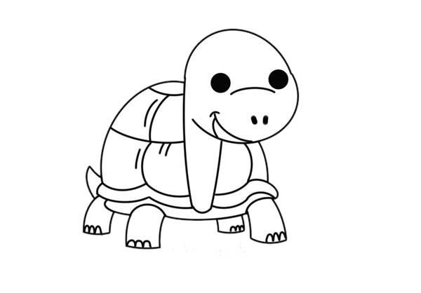 卡通乌龟如何画简笔画简单漂亮