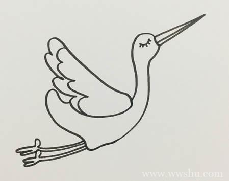 仙鹤简笔画怎样画简单又漂亮