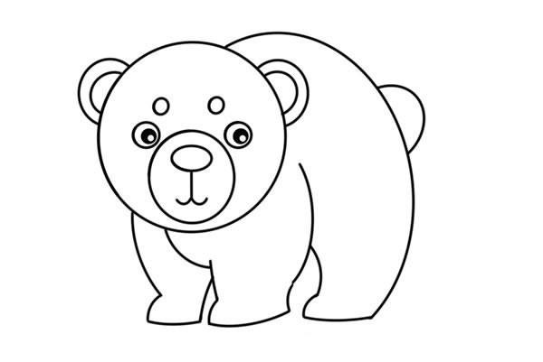 北极熊如何画简笔画简单又漂亮