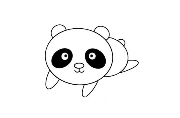 大熊猫宝宝如何画简笔画简单又可爱