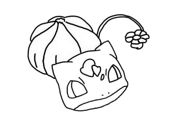 神奇宝贝妙蛙种子简笔画带色画法步骤图