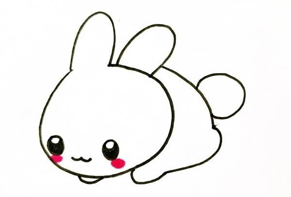 趴着的小兔子如何画可爱_小兔子简笔画画法步骤图片