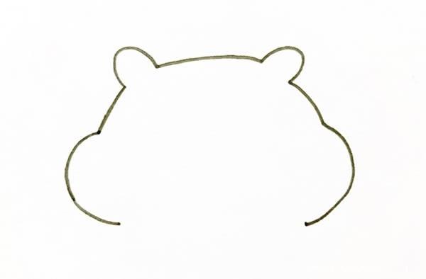 可爱卡通小仓鼠简笔画画法步骤图片教程