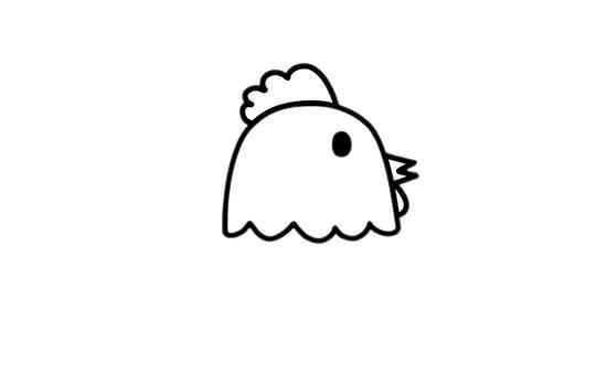 农场里的公鸡简笔画彩色画法步骤图解教程_公鸡简笔画
