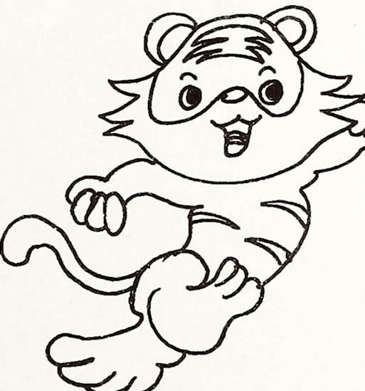 森林之王老虎简笔画图片大全