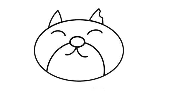 可爱猫咪卡通简笔画画法步骤图片
