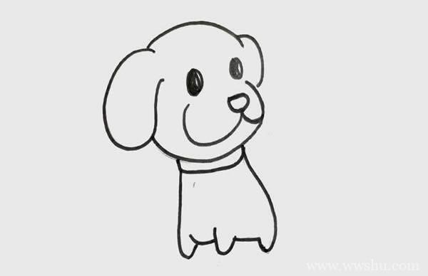 一步一步教你画小狗又简单又可爱_小狗简笔画画法步骤图片