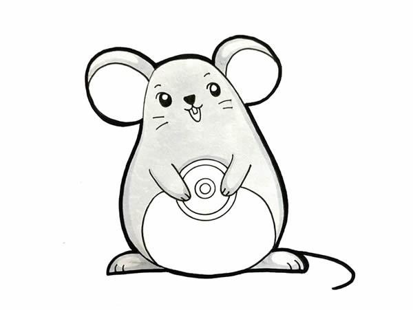 2020鼠年卡通老鼠简笔画步骤图片