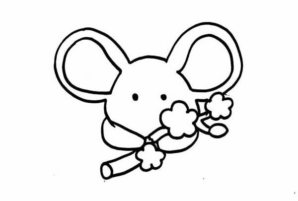 2020年鼠年简笔画画法步骤图片
