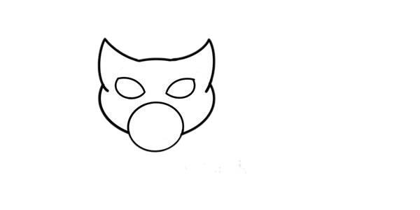 缅甸猫简笔画步骤图解教程_小猫简笔画