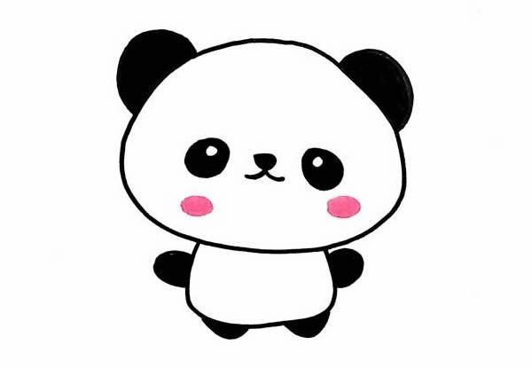 如何画小熊猫简笔画可爱_一步一步教画小熊猫简笔画