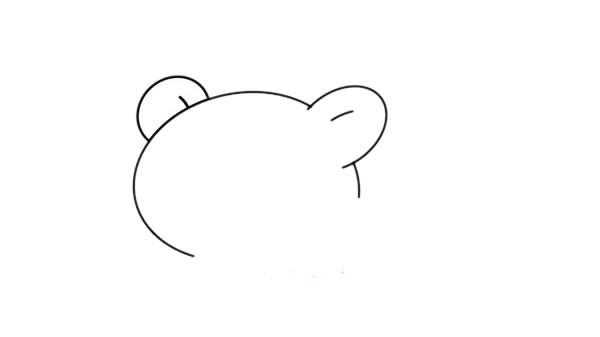 卡通小熊简笔画画法步骤图片