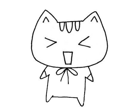 可爱的猫咪简笔画画法步骤图片大全