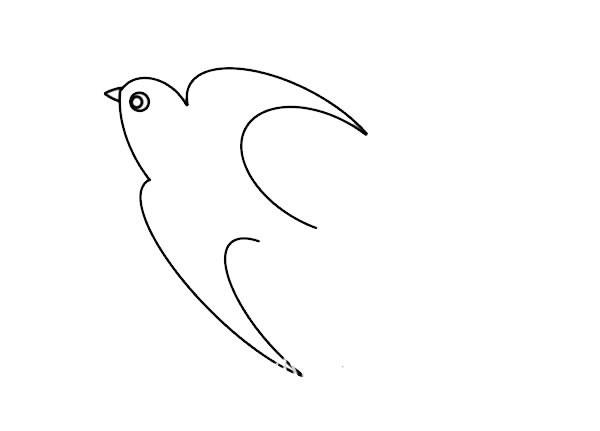 春天的燕子简笔画画法步骤图片
