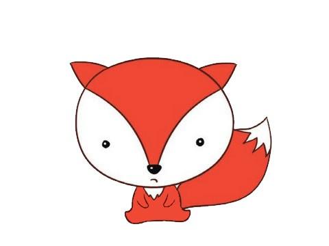 卡通狐狸简笔画的画法步骤图片大全