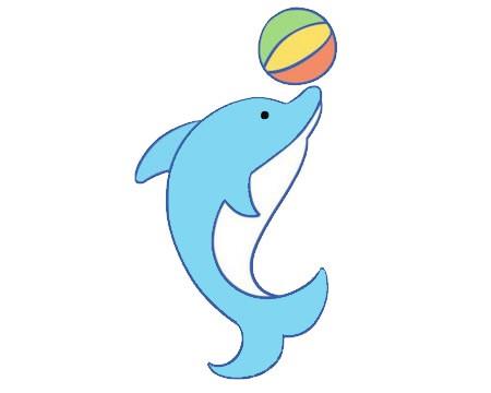 卡通海豚简笔画的画法图片大全