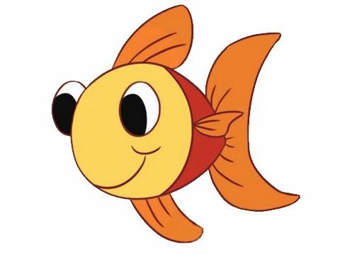 金鱼简笔画,各种可爱的金鱼简笔画步骤图片大全