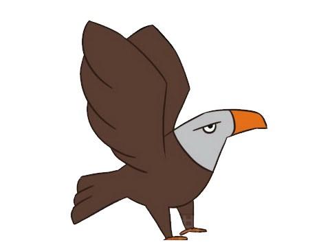 老鹰简笔画步骤图解,各种老鹰的画法图片大全