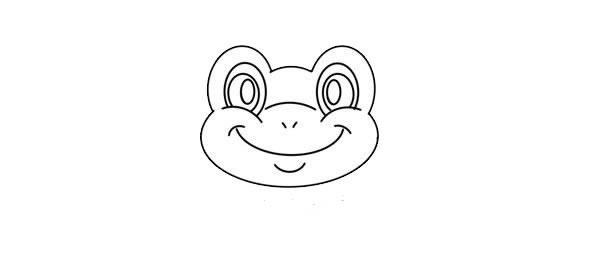 站在荷叶上的青蛙简笔画画法步骤图片
