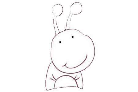 卡通蜗牛简笔画画法步骤图片大全