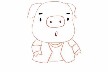 卡通小猪简笔画画法步骤图片大全