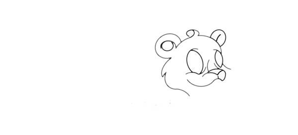 可爱金钱豹简笔画画法步骤图解教程