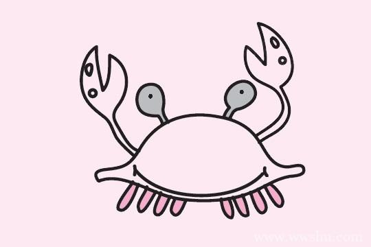 螃蟹简笔画简单步骤图解教程及图片大全