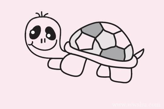 简单的乌龟简笔画画法步骤教程及图片大全