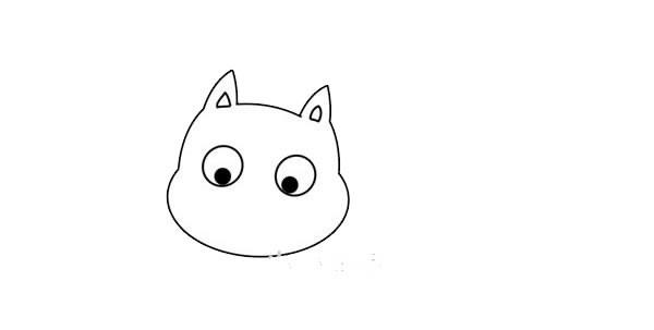 好奇的小猫简笔画画法步骤图片