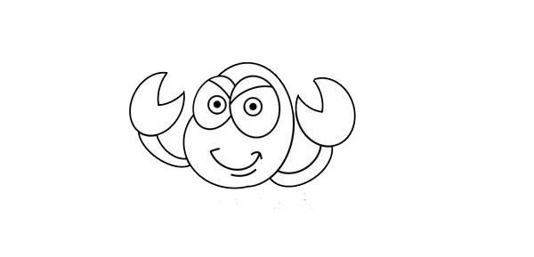 卡通蝎子简笔画画法步骤图片