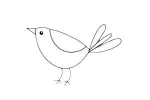 超简单的小鸟简笔画步骤教程及图片大全