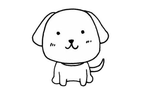 超简单的狗狗简笔画的画法步骤图片大全