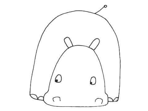 河马如何画的简单画法,最简单的河马简笔画