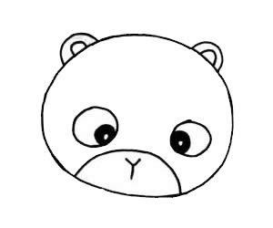 可爱卡通小浣熊简笔画画法步骤图片大全