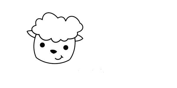 可爱绵羊简笔画的画法步骤图片教程