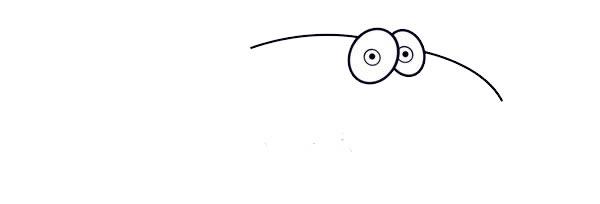 卡通鲨鱼简笔画的画法步骤图片教程