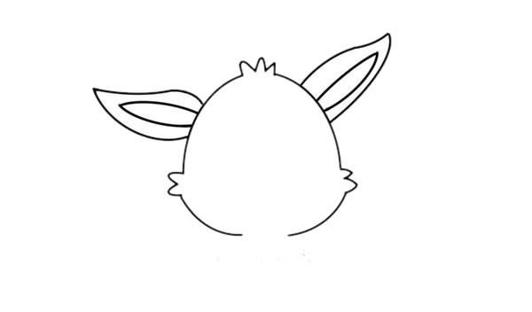卡通小白兔简笔画画法步骤图解教程