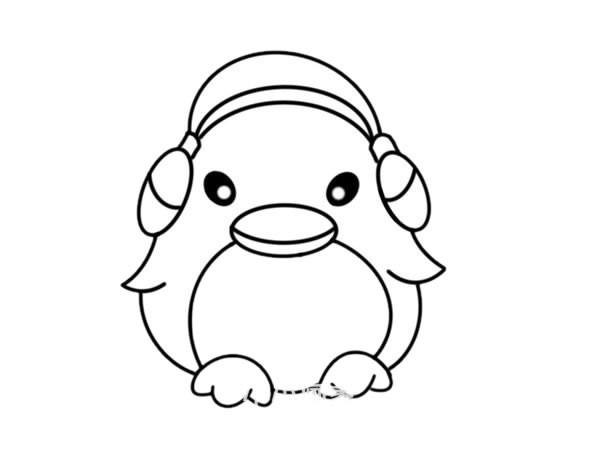 卡通企鹅简笔画步骤图解教程