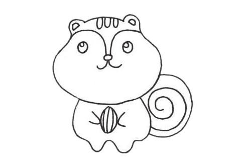 简单的松鼠简笔画步骤图片大全