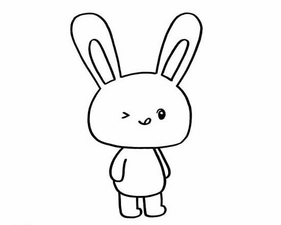 卡通小兔子简笔画步骤图解教程_小兔子如何画简单又可爱