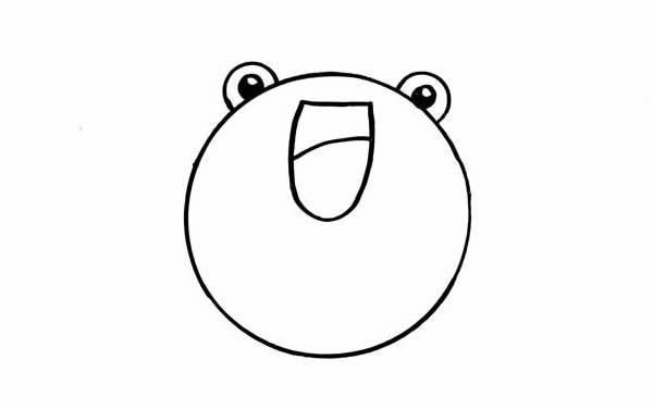 可爱青蛙简笔画步骤图解教程