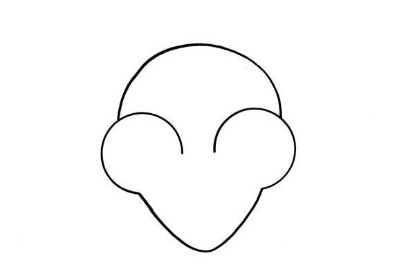 超萌可爱小老鼠简笔画步骤教程_小老鼠如何画简单又可爱