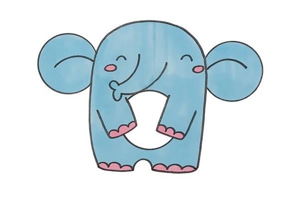 用数字9画大象简笔画步骤图解教程